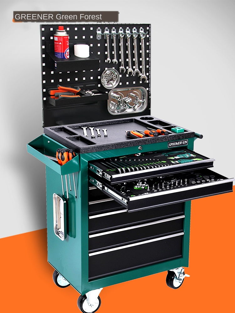 Auto Repair Tool Car 5 Drawer Hardware Toolbox Multi Function Maintenance Tool Cart Tool Cabinet In Car Room