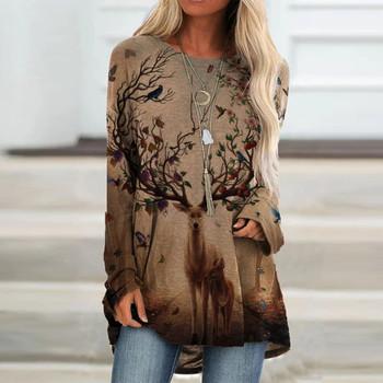 Harajuku kobieta t-shirty graficzne t-shirty kobiety moda z długim rękawem O-neck drukowanie luźny T-shirt t-shirty Damskie Ropa Mujer tanie i dobre opinie CN (pochodzenie) Lato COTTON NONE bez rękawów REGULAR Sukno Na co dzień Dla osób w wieku 18-35 lat Z okrągłym kołnierzykiem