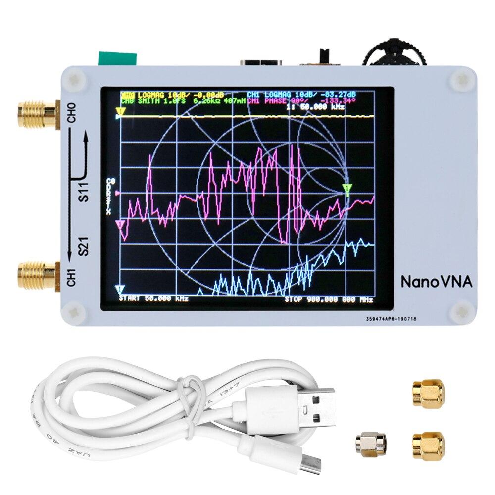 Portable Handheld Vector Network Analyzer 50KHz 900MHz Digital Display Touching Screen Shortwave MF HF VHF UHF Antenna Analyzer|  - title=