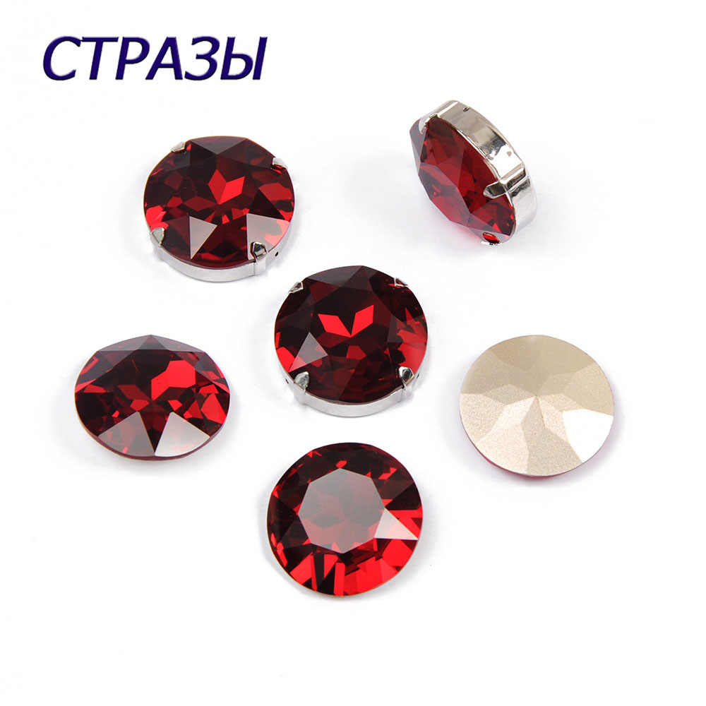 CTPA3bI 1201 Round Shape Siam Color Crystal Clear Strass Stone DIY Garment Sewing On Clothes Accessories Charming Crafts