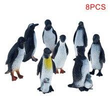 8 pièces/ensemble Simulation pingouin Multiple modélisation Animal Figure à collectionner jouets 2 Styles