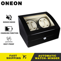 ONEON Luxury Automatic watch winder wood paint slient motor watch Box mechanism cases storage display 4+6 And 2+0 watches Winder