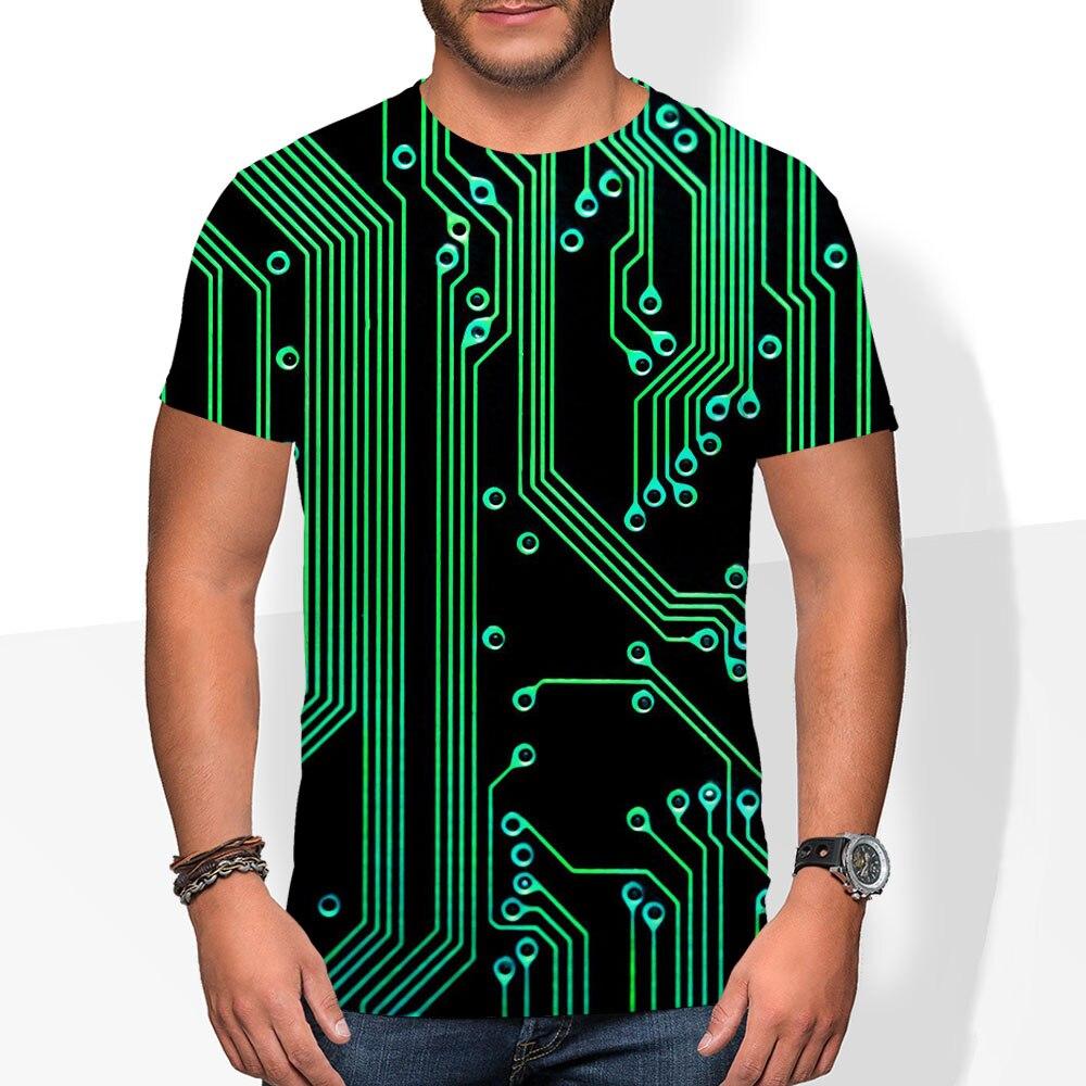 Компьютерная микросхема Материнская плата Процессор сердце программатор Nerd 3D Футболка бренда Tatooine мастер лист футболка для мужчин/женщин