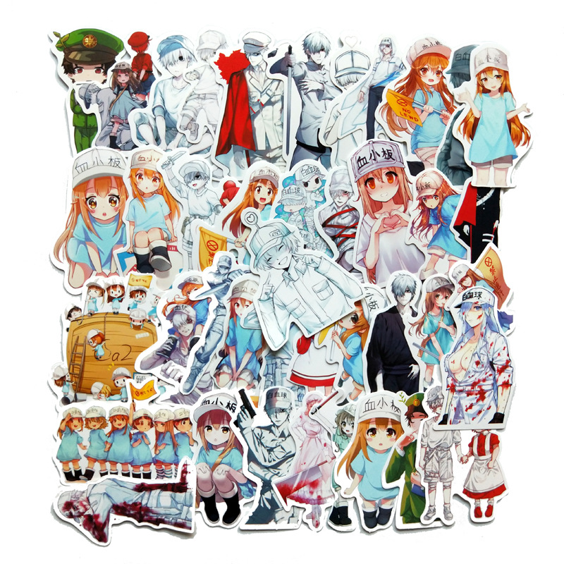 TD ZW 42Pcs Japanese Anime Working Cell Stickers Waterproof Decal Laptop Motorcycle Luggage Snowboard Fridge Phone Car Sticker