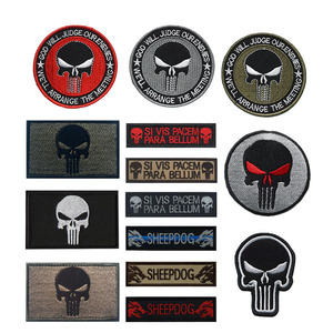 Embroidered Army Hook and Ring Punisher Striped Badge Army Fan Chest Armor Armband Clothes Backpack Hat Label Armband(China)