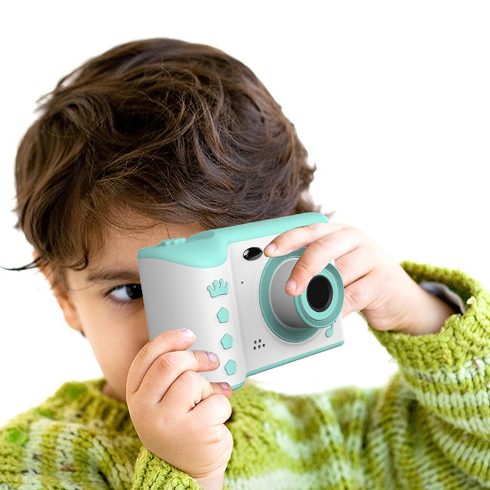 Mini Children Camera 2.8 Inch IPS Eye Protection Touch Screen 1080P HD Digital Video Camera Dual Lens 18 Million Pixels Camera