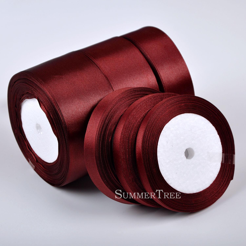 Black Satin Ribbon Gift Bow Handmade DIY Craft Wedding Party Supply Banquet 39