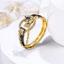 Tuliper браслет pantera bransoletka dla kobiet Leopard bransoletki браслеты женские zwierząt kryształ Party biżuteria prezent 팔찌 koreański indyjski