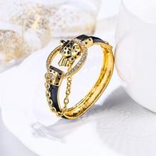 Разноцветные женские браслеты с леопардовым принтом tulianimal Animal Crystal ювелирные изделия с кристаллами в виде животных для вечеринки в подарок 팔찌 찌 корейский и индийский