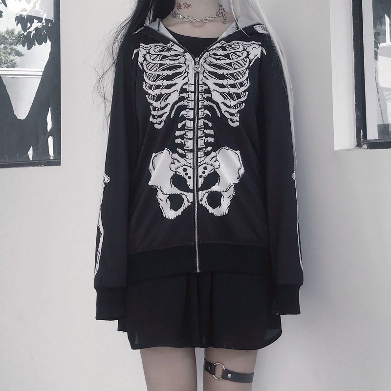 Demon Skeleton Lightweight Hoodie
