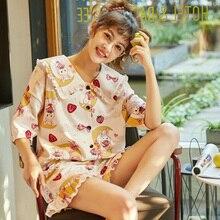 Summer Girl's Nightdress 100% Cotton Nightgown Cartoon Plus Size Nightgown Girls Nightdress Cute Print Sleepshirts fox print nightdress