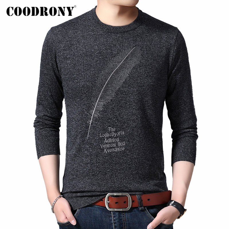 COODRONY Brand Sweater Men Casual O-neck Pull Homme Knitted Cotton Wool Pullover Men Autumn Winter Fashion Jumper Sweaters 91080