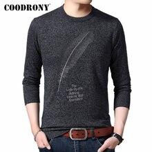 Coodrony 브랜드 스웨터 남성 캐주얼 o 넥 당겨 옴므 니트 코튼 울 풀오버 남자 가을 겨울 패션 점퍼 스웨터 91080