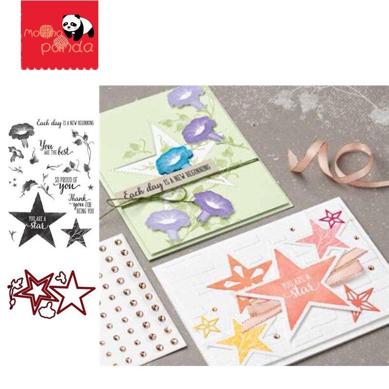 MP061 STAR Metal Cutting Dies And Stamps Scrapbooking Photo Album Card Paper Embossing Craft DIY Dies Cut