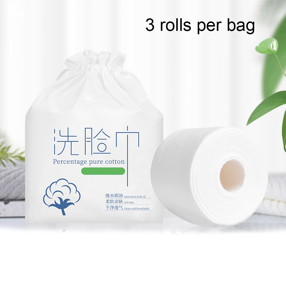 2020 New 3 Rolls Disposable Cleaning Face Towel Portable Travel Cosmetic Cotton Soft Face Towel For Family Paper