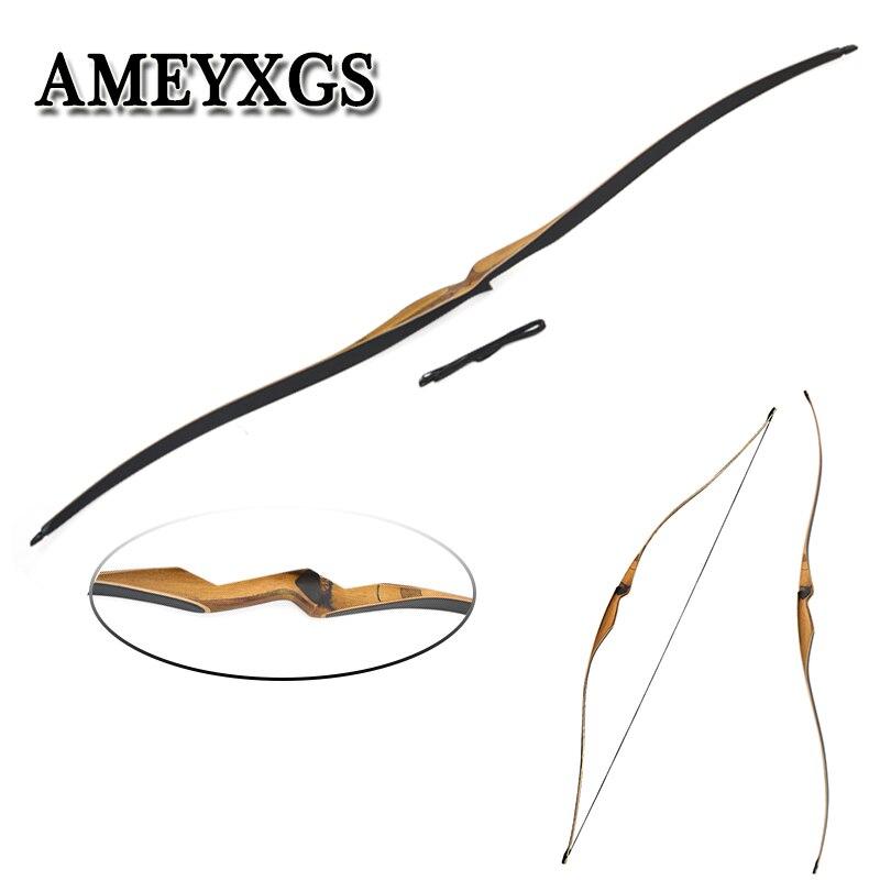 1 pièces 54inc 10-35Ibs tir à l'arc passe-temps tir à l'arc Longbow traditionnel classique Sports de plein air tir formation accessoires