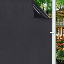 1/2 m removível 100% luz bloqueando estática total blackout janela filme privacidade quarto escurecimento janela matiz preto janela adesivo