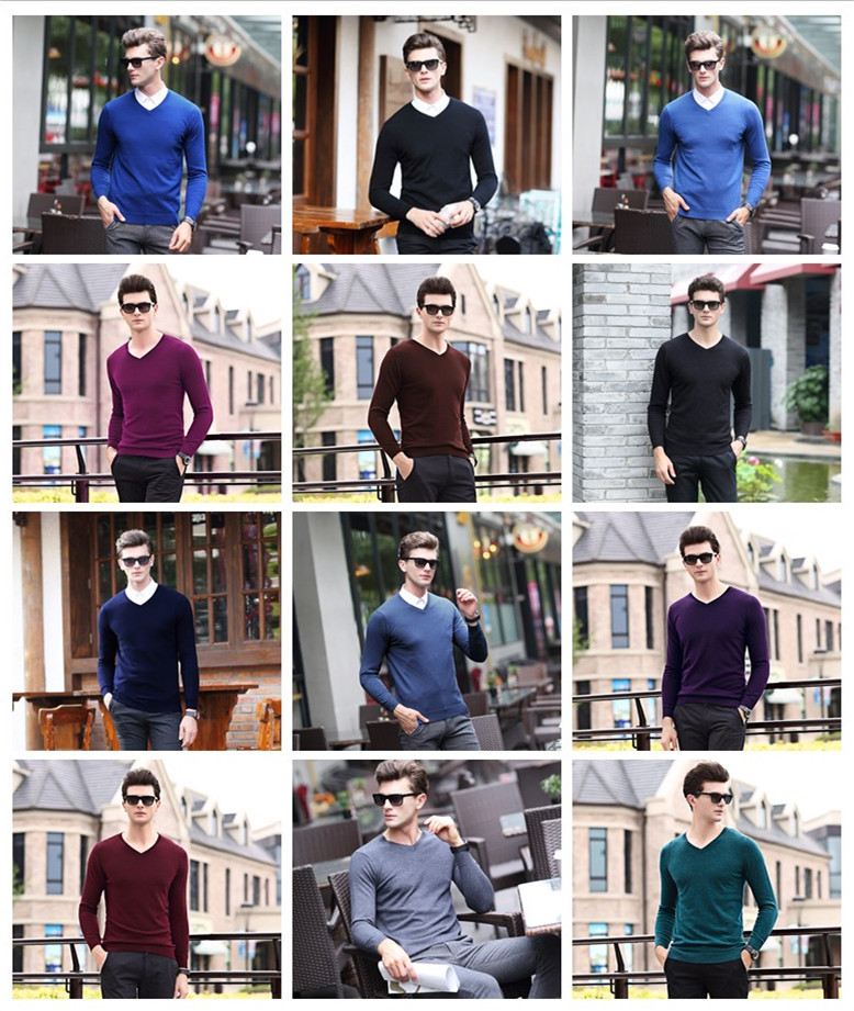 UCAK Brand Sweaters Men Pure Merino Wool Solid Basic Style 2020 New Arrival Spring Thin Pull Homme Casual Sweater Pullover U3164