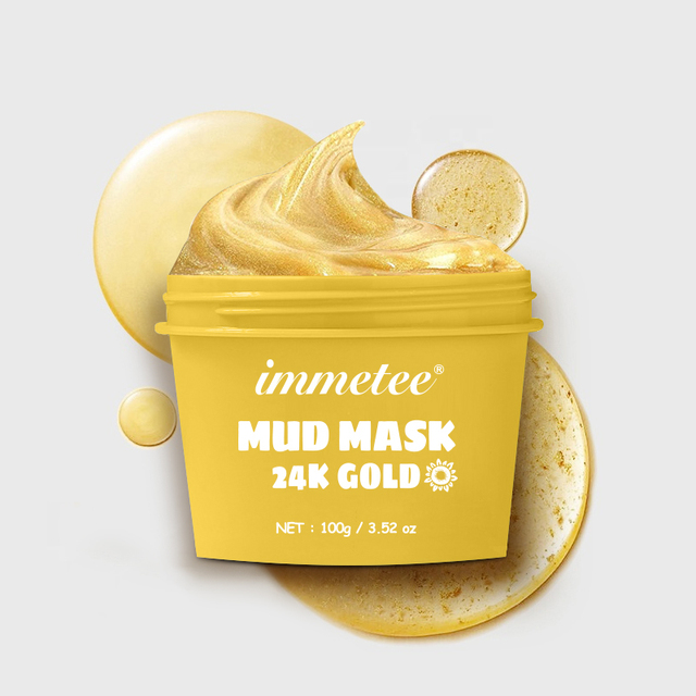1pcs 100g 24K Gold Mud Mask Deep Cleansing Mask Shrink Pore Removal Blackhead Moisturizing Peel Mask Facial Skin Care Products 1