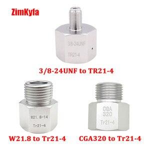 Image 4 - Co2 bote de depósito regulador Adaptador convertidor adaptador Sodastream,Paintball,CGA320,W21.8 cilindro a herramienta de aire, HomeBrew, acuario