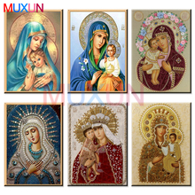 Diy 5d Diamond Painting Cross Stitch Religion Icon of Leader 3d Diamond Mosaic Religious Men Diamond Embroidery Rhinestones zj05 full round diamant painting 5d diy diamond painting cross stitch religion icon of leader diamond mosaic true religious men