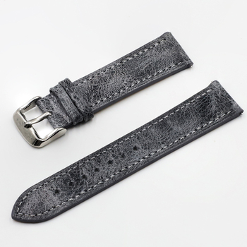 цена на High Quality Retro Watch Strap Band 18mm 20mm 22mm 24mm Leather Watchbands Gray Black Brown Blue for Men Watch Accessories