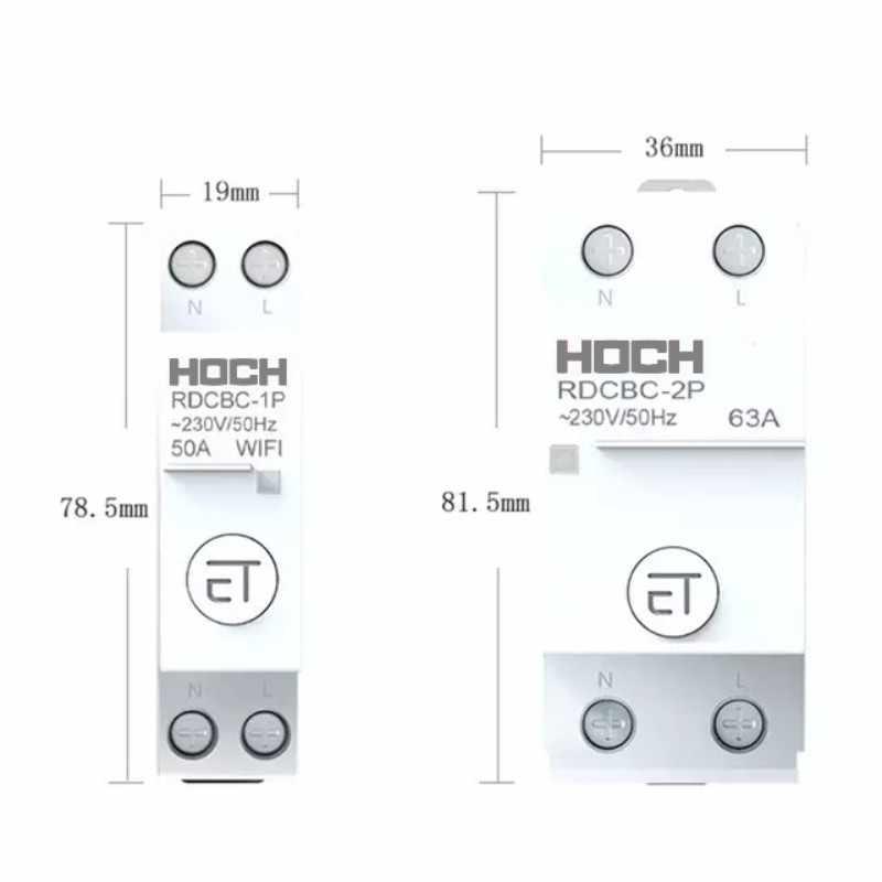 HOCH RDCBC 1 1080P 無線 lan 回路ブレーカリモコン eWeLink タイマースマートホーム磁気保持スイッチ工場