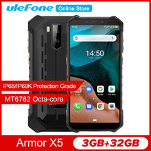 Ulefone Armor X5 5.5 HD + IP68 Smartphone Rugged P23 Android 10 Shockproof Octa Core 5000 MAh 3GB 32GB 13MP 5V/2A 4G Mobile Ponsel(China)