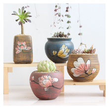 Creative succulent hand-painted ultra-breathable Chinese succulent plant ceramic flower pot stoneware green plant pot plant polmedia polish pottery 12 oz stoneware tea pot with sifter h2844g hand painted from wr in boleslawiec poland shape s253e 8d pattern p1852a dt2 unikat