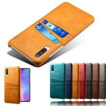 Posiadacz karty skórzany futerał na telefon dla Samsung Galaxy A40S M10 M20 M30 M40 uwaga 8 9 10 S7 krawędzi S8 S9 S10E S10 Plus pokrywa J4 Plus