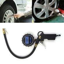 0 200 PSI Tire Pressure Monitor Pressure Gauge Automobile Car Truck Air Tire Inflator with Gauge Dial Meter Tester