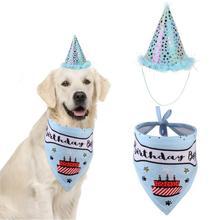 Hat Scarf Pets-Accessories-Supplies Dog-Bibs Christmas-Bandana Birthday-Costume Party