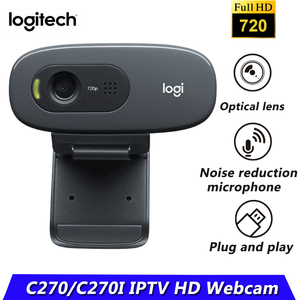 Original Logitech Webcam C270/C270i HD 720p 3-MP Widescreen Camera USB2.0 Free drive Webcam for PC Web Chat Camera