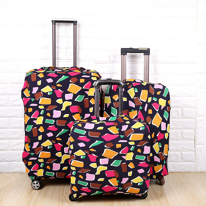 Printed Suitcase Thickened Foam Dust Cover Elastic Suitcase Cover Suitcase Protective Case