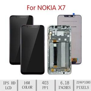 Image 2 - Оригинальный сенсорный ЖК экран для NOKIA 8,1, дигитайзер в сборе для Nokia 8,1, дисплей с рамкой для замены TA 1119, TA 1121, TA 1128