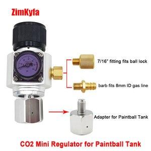 Image 1 - Mini regulador de gás co2 com tanque paintball adaptador conversor para homebrew corny barril 0 6060psi