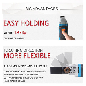 Image 3 - NEWONE herramienta eléctrica multifunción, recortador eléctrico, renovador, sierra, cortador de 500W, herramienta oscilante con mango, cuchillas multiusos