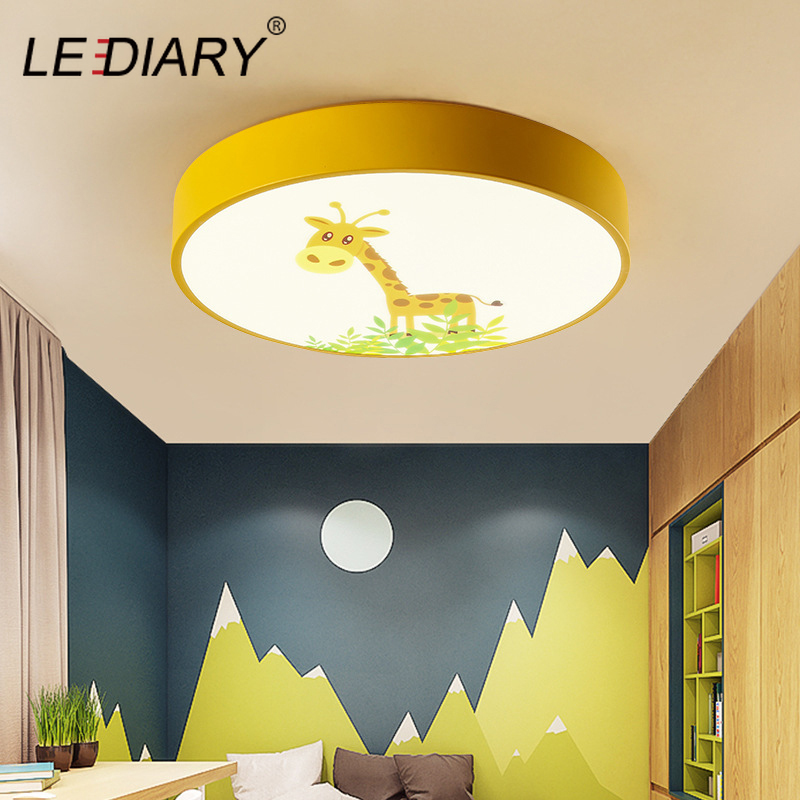 LEDIARY 220V LED Decke Lampe Cartoon Kinder Junge Mädchen Zimmer Runden Multicolor 18W Decke Oberfläche Montiert LED Beleuchtung leuchten