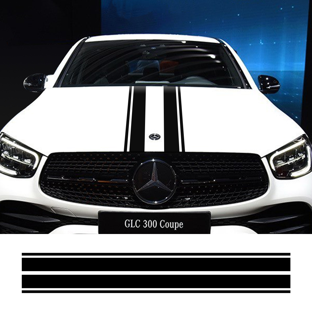 Hood Cover Car Stickers Auto Vinyl Decals For <font><b>Mercedes</b></font> Benz A <font><b>GLA</b></font> GLC CLA <font><b>45</b></font> <font><b>AMG</b></font> W176 C117 W204 W205 C63 Car Tuning Accessories image