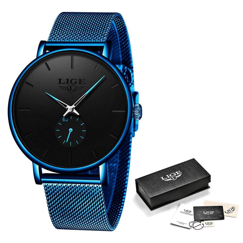 Watch Men 2020 LIGE Clearance Sale $ 14.99 Fashion Business Men Watches Top Brand Luxury Waterproof Casual Simple Quartz Watch 6