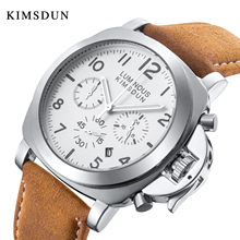цена KIMSDUN genuine belt three eyes multifunctional sports waterproof casual men's watch luminous watch quartz watch онлайн в 2017 году