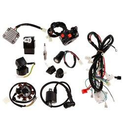 Электропроводка катушка CDI, полный комплект, статор, Свеча зажигания, для 150 куб. См 250 куб. См вездехода, квадроцикла, кроссового велосипеда, б...