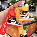 3D Мини Симпатичные Силиконовые тапки в заказе будет отправлена модель, брелки для ключей, ПВХ обувь кольца для ключей сумка на молнии очаров...
