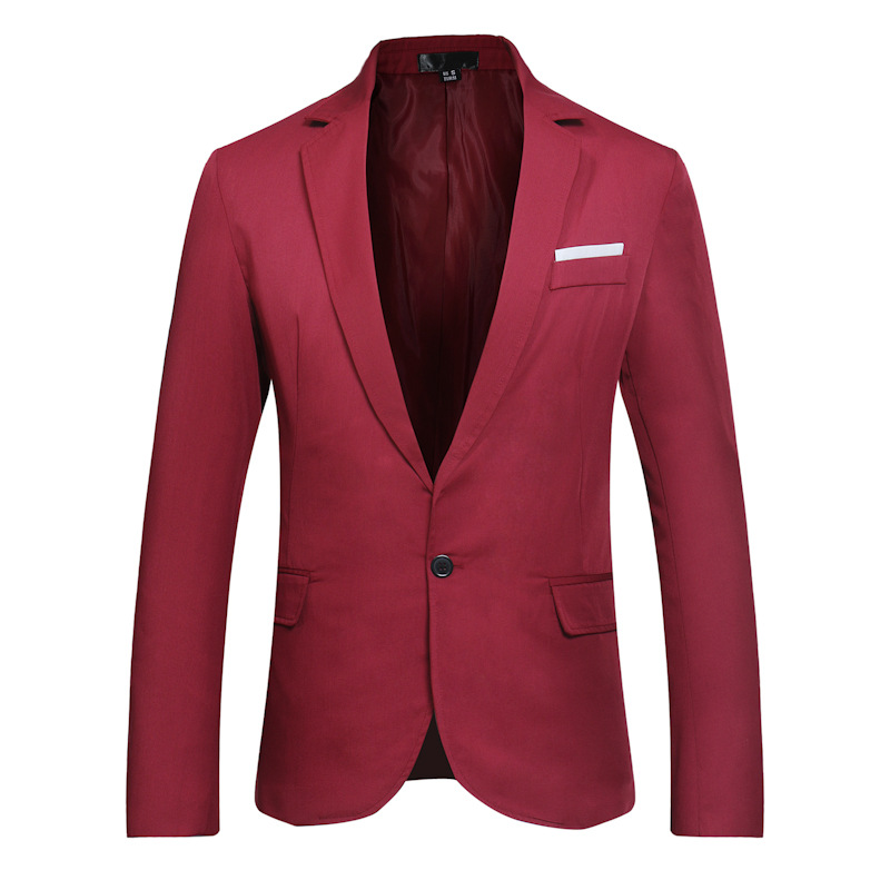 Multi-color Suit Coat Men Simplicity Single Breasted Pocket Decoration Autumn And Winter Casual Business Small Suit