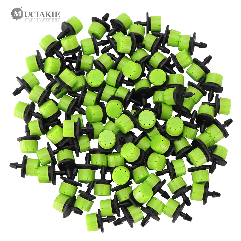 MUCIAKIE 30-1000PCS Apple-green Adjustable 8-Hole Drippers Garden Micro Emitter Mini Irrigation Nozzles Greenhouse Yard Watering
