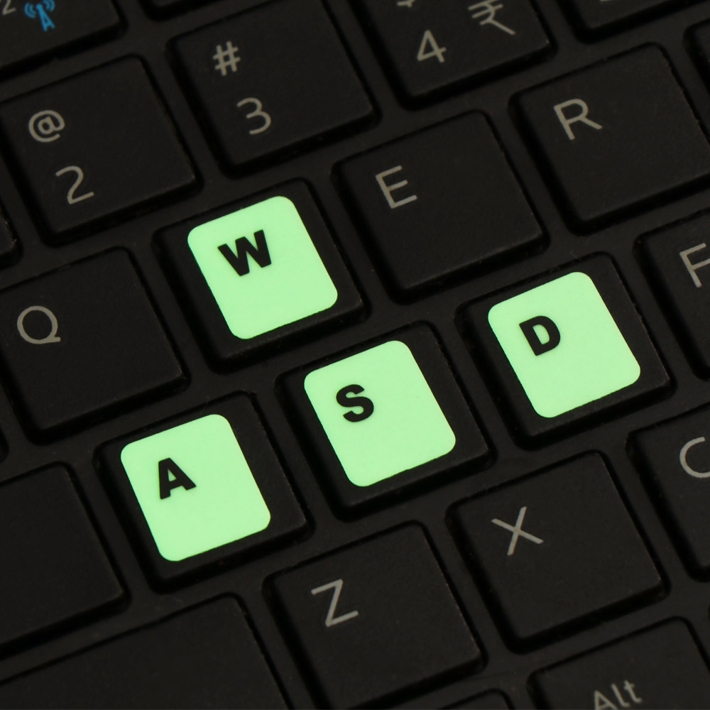Luminous Keyboard Stickers Letter Protective Film Alphabet Layout For Laptop PC Spanish/English/Russian/Arabic/French Language-1