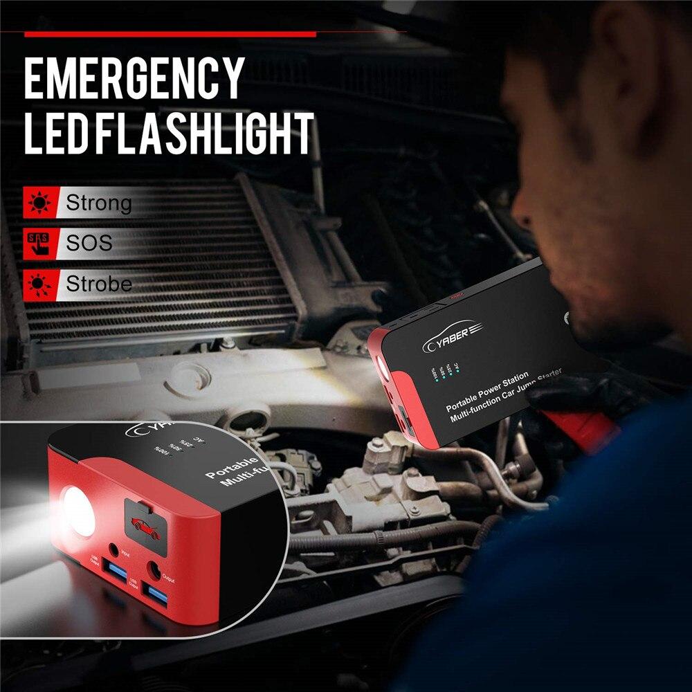 Yaber YR700 высокое качество 2000A пусковое устройство аварийный автомобиль пусковое устройство батарея Power Bank Авто Booster 22000mAh 100W AC выход