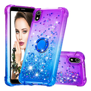Image 5 - Newly Luxury Phone Case For Xiaomi Redmi 7A K20 K20 Pro Bling Heart Dynamic Kickstand Soft Edge TPU Bumper Back Cover Coque Gift