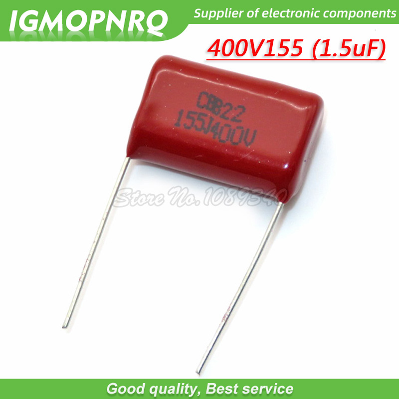 20PCS CBB21 684J 400V 0.68UF 680NF P20 Metallized Film Capacitor