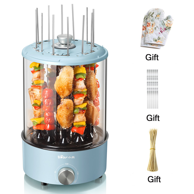 Automatic Barbecue Machine Electric Oven Rotate Indoor Smoke Free Roast Lamb Skewers Barbecue